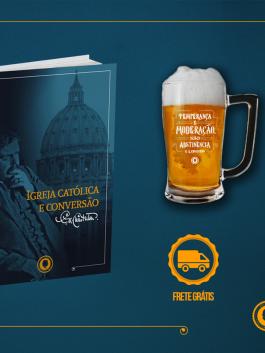 Livro Igreja Católica e Conversão +  Caneca Cerveja
